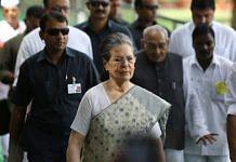 File photo of Congress president Sonia Gandhi | Photo: Praveen Jain | ThePrint