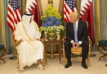 File photo of President Donald Trump meets with the Emir of Qatar during their bilateral meeting, 21 May, 2017 | Official White House Photo by Shealah Craighead | Twitter