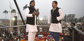 File image of Akhilesh Yadav and Rahul Gandhi | @INCIndia Twitter