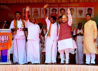 Amit Shah at public meeting in Tamil Nadu