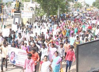 Protests after Anitha's suicide against NEET