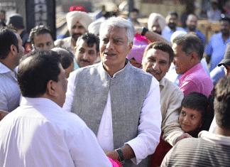 Sunil Jakhar campaigning in Gurdaspur