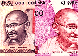 The Rs 1000 rupee note and Rs 2000 rupee note introduced before and after demonetisation respectively