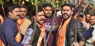 File photo of Bajrang Dal with Vishva Hindu Parishad (VHP) members (representational)   Sameer Sehgal/Getty Images