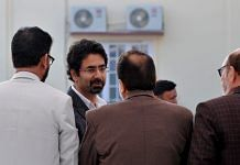 Tassaduq Mufti after taking oath in the BJP-PDP coalition government