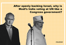 Talk Point slide with the question and a picture of Putin (L) and Modi (R)