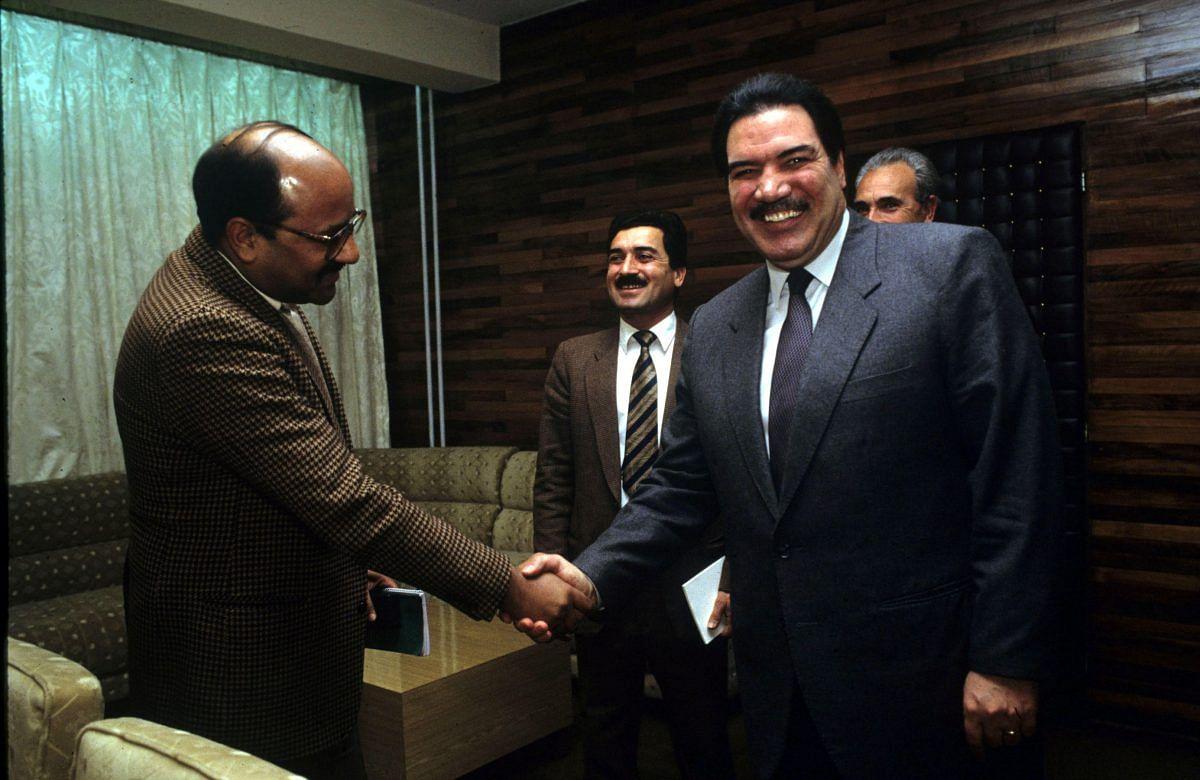 Shekhar Gupta with Najibullah