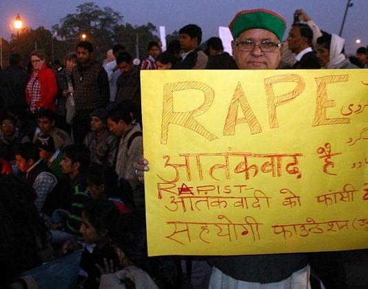 Protests at the India Gate seeking justice for Nirbhaya
