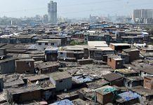 Slum against city