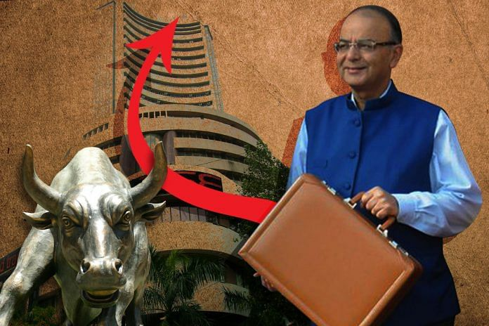 an illustration depicting Finance Minister Arun Jaitley