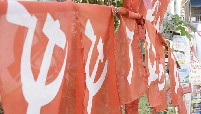 CPI(M) flags in Kannur
