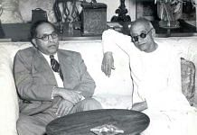 C. Rajagopalachari with Bhim Rao Ambedkar