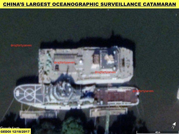 China's largest oceanographic surveillance catamaran