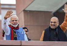 Prime Minister Narendra Modi and BJP President Amit Shah at BJP headquarters   Kamal Singh/PTI