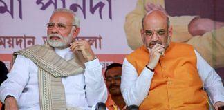 Prime Minister Narendra Modi with BJP National President Amit Shah in Tripura   PTI