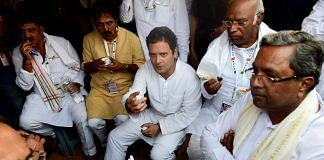 Rahul Gandhi with Karnataka CM Siddaramaiah | PTI