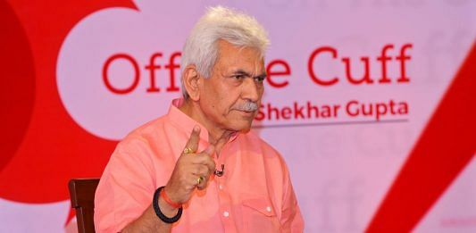 Newly appointed L-G of Jammu and Kashmir Manoj Sinha.   ThePrint