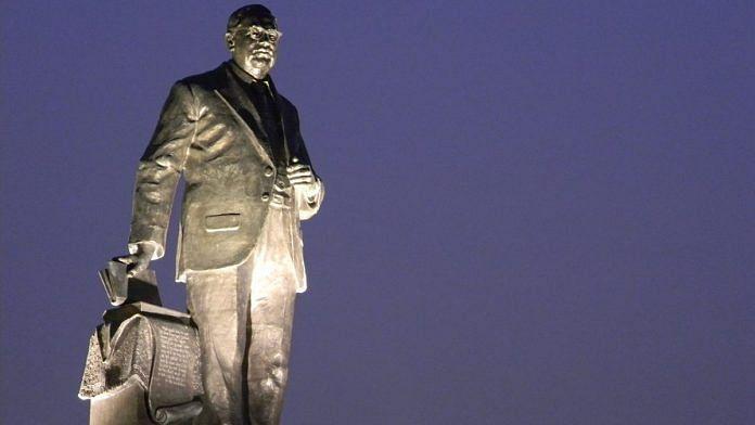 A BR Ambedkar statue