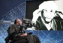 File photo of Stephen Hawking on April 12, 2016 in New York