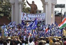 Members of Dalit community stage a protest during 'Bharat Bandh' in Lucknow|