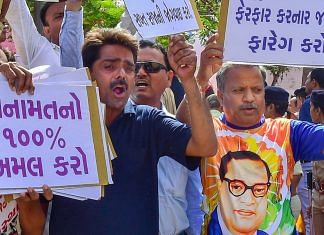 Dalit activists protest against the alleged 'dilution' of Scheduled Castes/Scheduled Tribes act | PTI