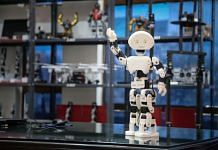 A 3D printed humanoid robot at Mumbai techfest 2015