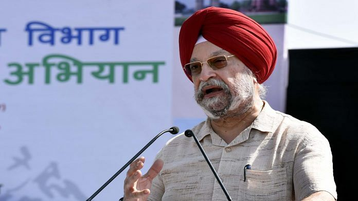 Union Minister of State for Urban Affairs Hardeep Singh Puri during the