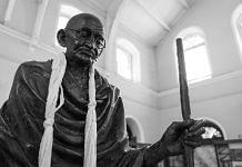 A statue of Mahatma Gandhi
