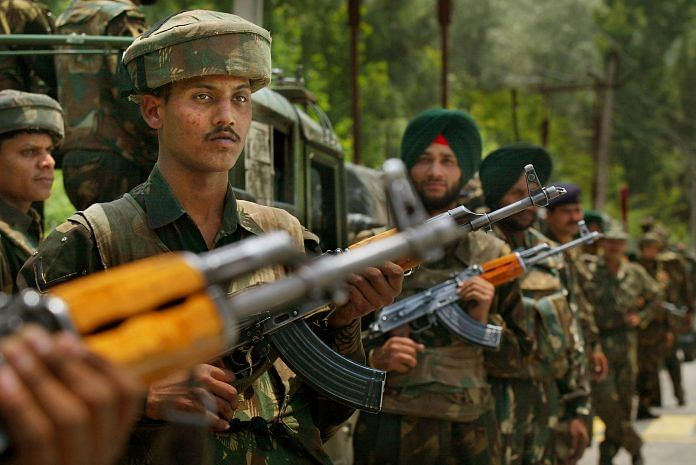 A file image of Indian Army in Srinagar | Paula Bronstein/Getty Images