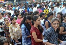 Representational image of students queueing up for NEET | File photo: PTI