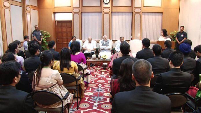 PM Modi meets IFS probationers | YouTube