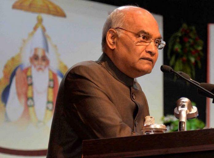 A file image of President Ram Nath Kovind