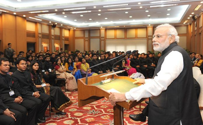 PM Modi interacting with IAS probationers in 2015 | pmindia.gov.in