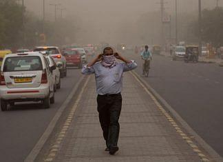 Duststorm hits the capital | Twitter | @TrumpDiatribe