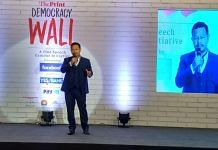 Meghalaya Home Minister James K. Sangma at ThePrint's Democracy Wall