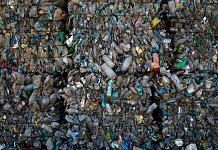 Cubes of sorted compressed plastic bottles, Istanbul | Chris McGrath/Getty Images