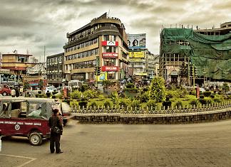 A view of Shillong city centre
