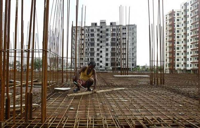 An under-construction building