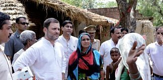 Congress President Rahul Gandhi interacts with the villagers, in Amethi   PTI