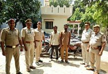 UP Police with two suspects arrested for burglary in Noida   Facebook/UP Police