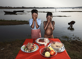 """A still from """"Dreaming Food"""", a conceptual project about hunger issue in India 