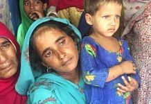 The wife of Alwar lynching victim Asmeena with their youngest daughter Sahila