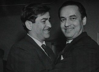 File image of Raj Kapoor and Mukesh Chand Mathur | @NFAIOfficial