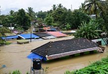 File photo | A view of houses submerged in water following a flash flood, triggered by heavy rains in Kerala | PTI Photo
