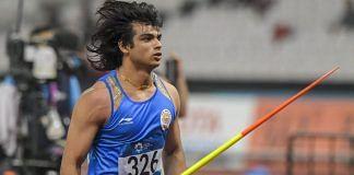 Neeraj Chopra at the Asian Games in Jakarta | Vijay Verma/PTI