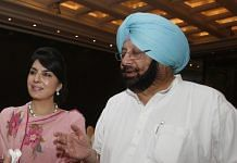 Captain Amarinder Singh with Aroosa Alam| K Asif/India Today Group/Getty Images