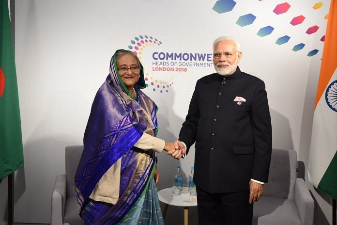 Sheikh Hasina with PM Modi