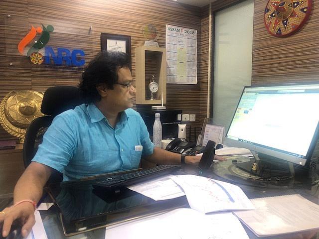 NRC state coordinator Prateek Hajela in his office