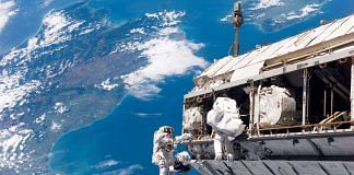 The International Space Station seen over New Zealand