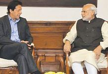 File photo of Prime Minister Narendra Modi with Pakistan PM Imran Khan | YouTube